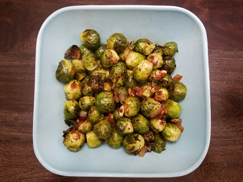 brussel sprouts with pepitas