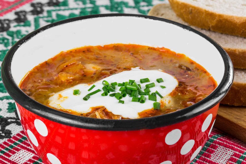 Kapustová polievka s klobáskou - 2.90€