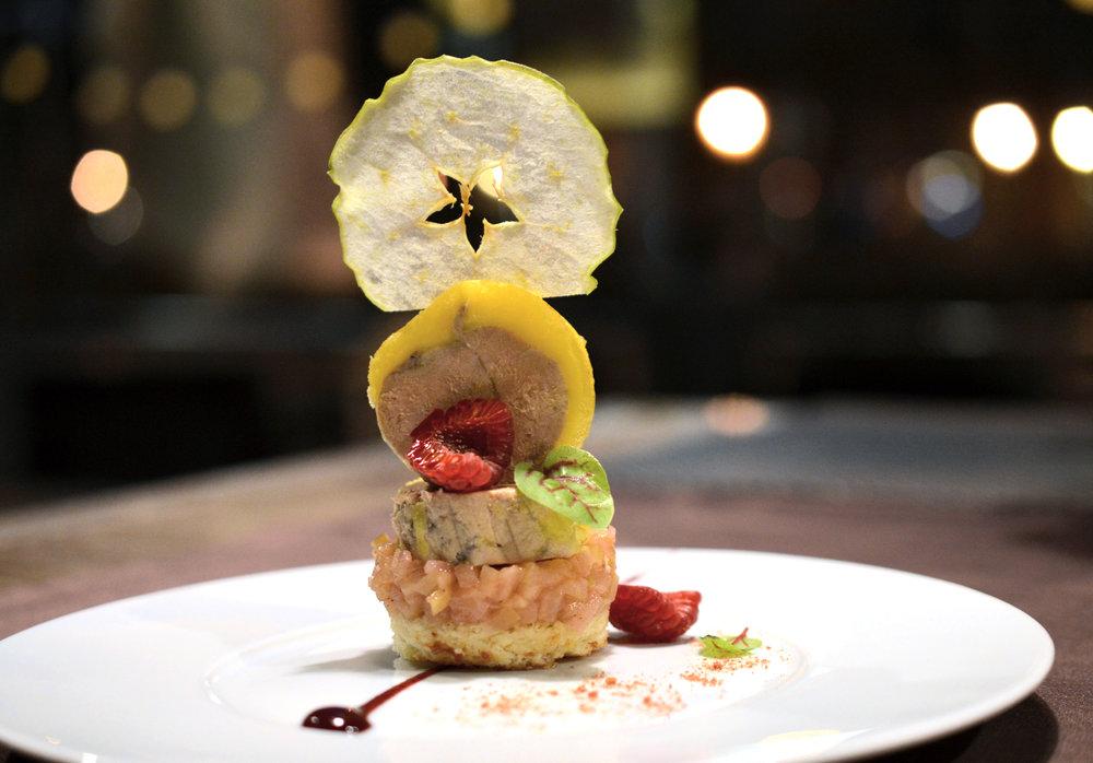 Terinka z kačacej pečene Foie gras s jablkovým chutney a maslovou brioškou 80g - 11,90€