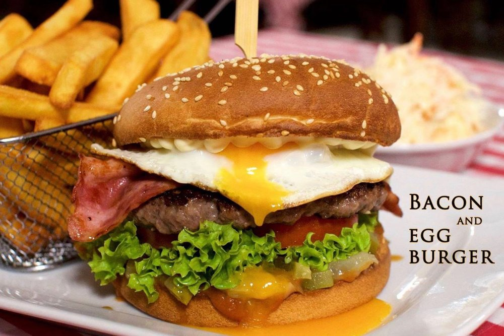 Bacon & egg burger - 8,40€
