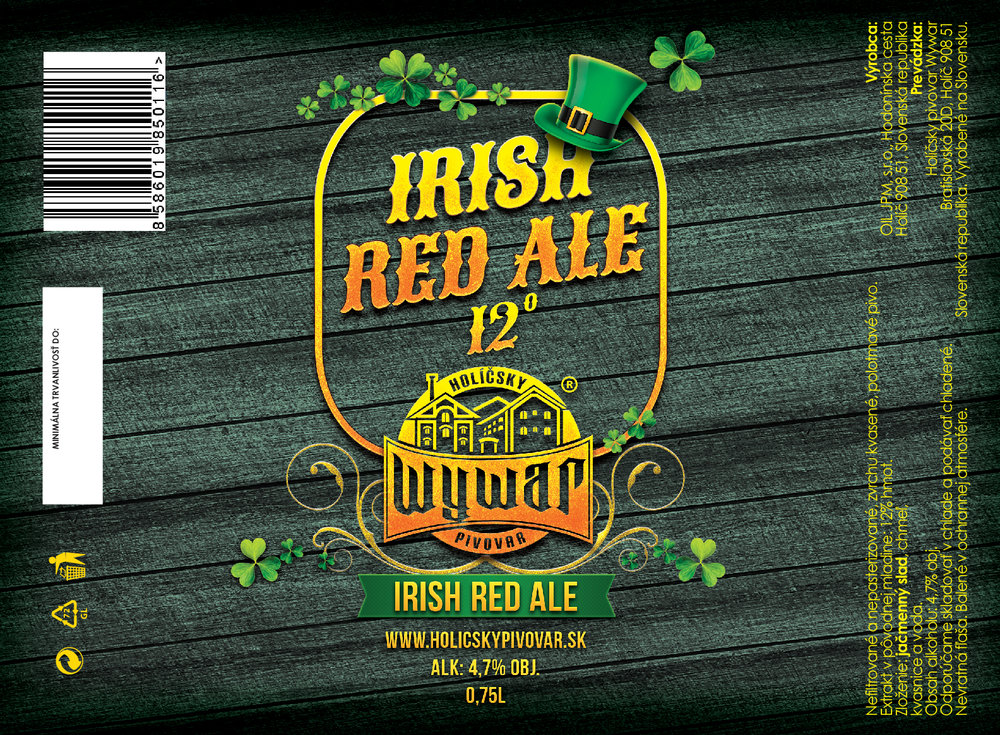 12° Irish Red Ale - 0,75l - 4,5€/fl.