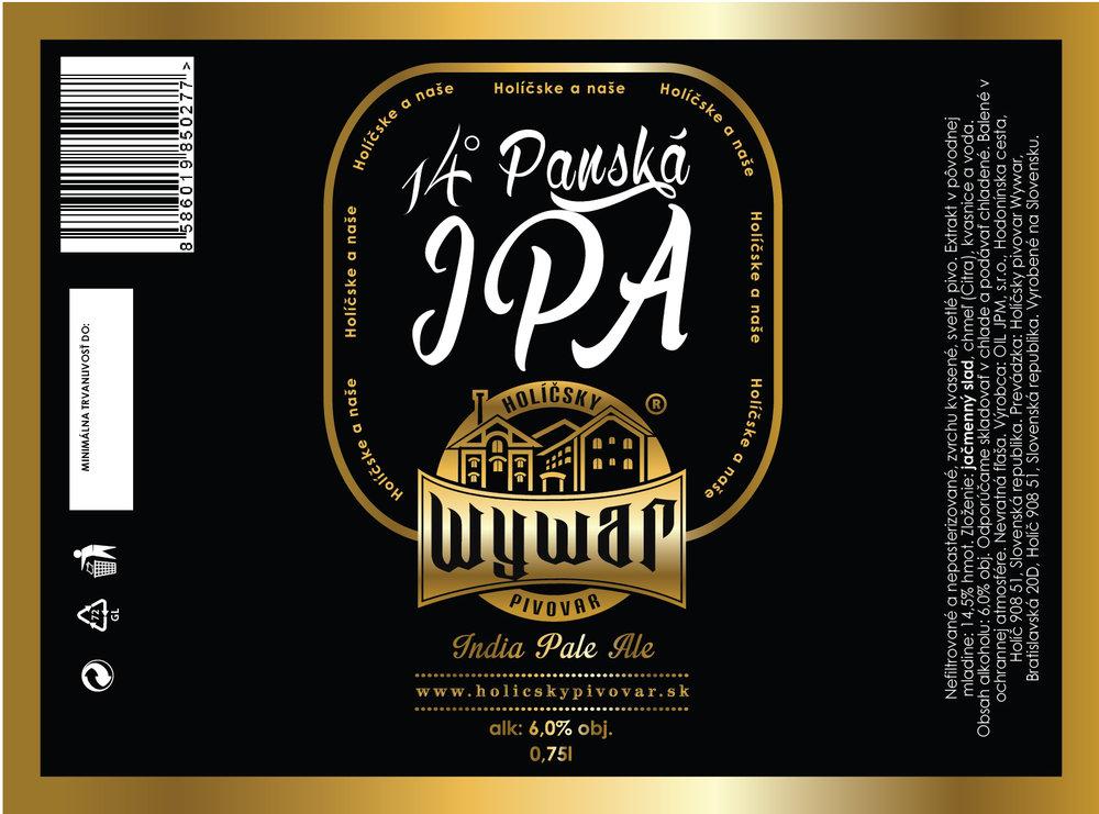 14° Panská IPA - 0,75l - 4,5€/fl.