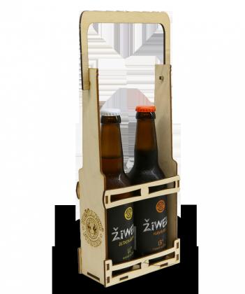 Darčekové balenie – drevený nosič na 2Fľ. - 3,00€