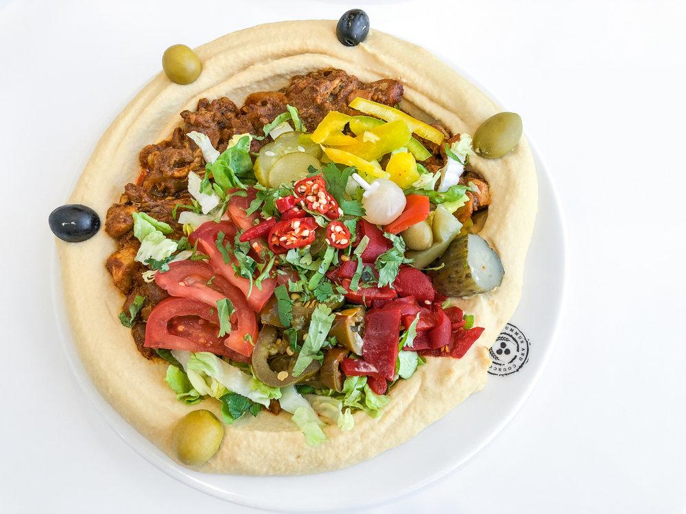 Hummus chicken mix Jerusalem - 5,50€