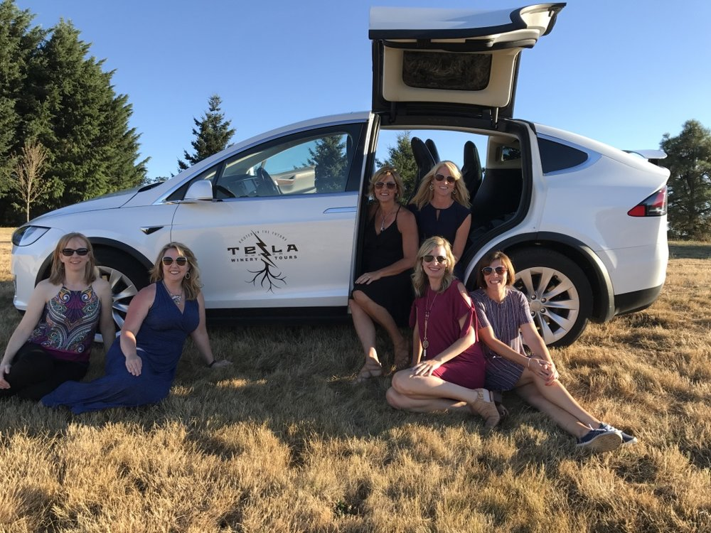 tesla, model x , 90d, sustainable, winery, tour, luxury, high end, future, environment