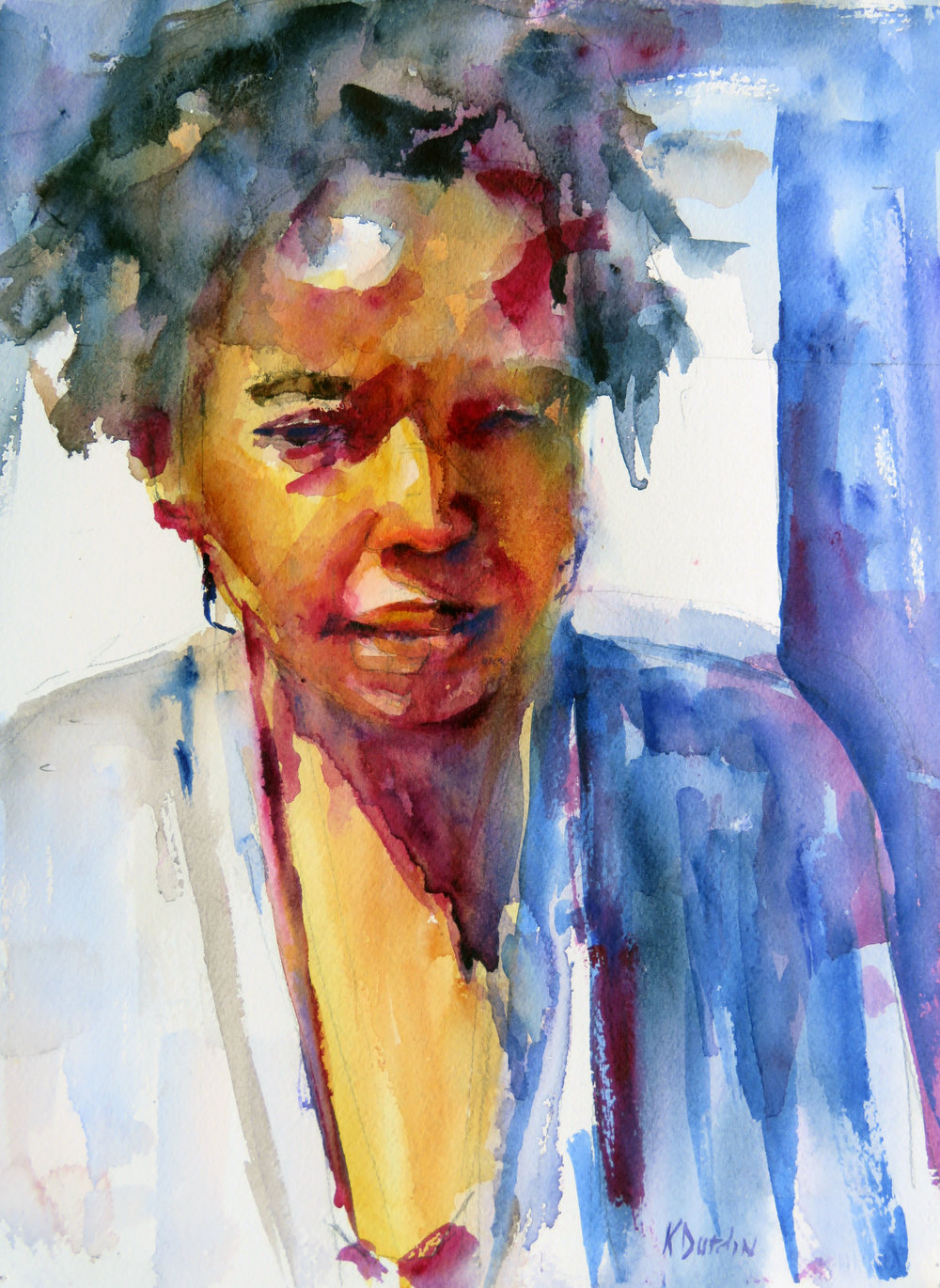 Jewelry Seller,  2017 Watercolor Society of Alabama National Exhibit-- 2017 Signature Members Award,