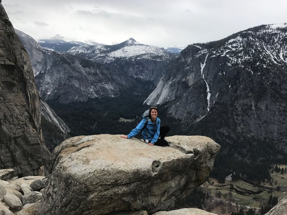 Top of Yosemite Falls (this was a big deal because I'm afraid of heights, guys)