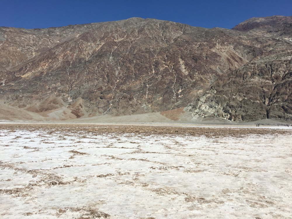 Salt Flats at the lowest elevation in North America (282 ft. below sea level!)