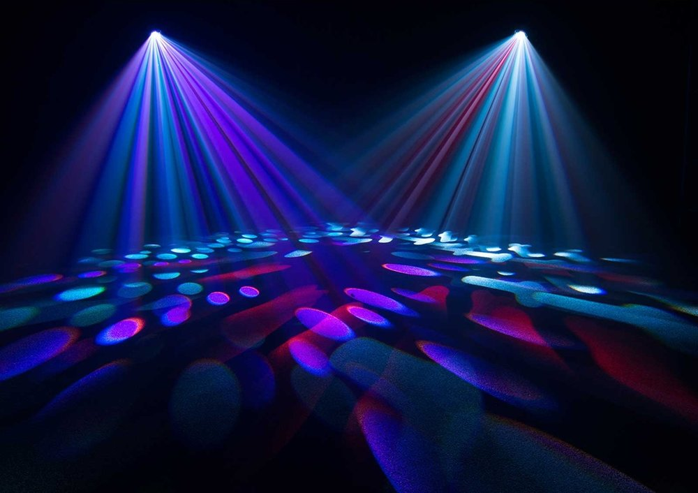 Moving Heads   Moving heads bring energy to the party as they move and sweep the entire room. An array of disco colors typically go behind the DJ or Band setup at your venue and are displayed towards the dance floor.