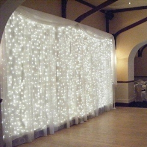 LED Fairy String Lights   One of the newest trends is fairy twinkle lighting. Every bride deserves to feel like a princess on her special day. Talk about a fairytale wedding! These elegant lights can be displayed vertical or horizontal depending on how it fits with your decor. Fairy lights are a great addition to your design to give the night a magical atmosphere. The twinkle certainly adds a romantic touch.