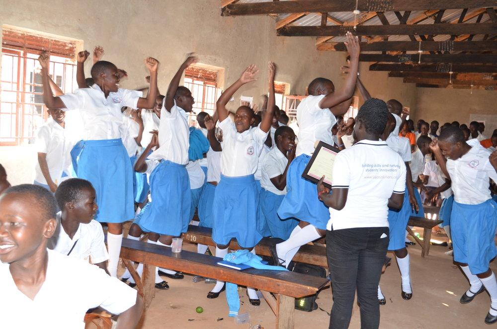 Rapha Girls School-the winners celebrate.JPG