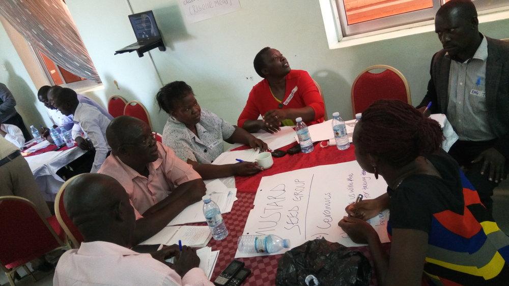 Brainstorming ideas as a team