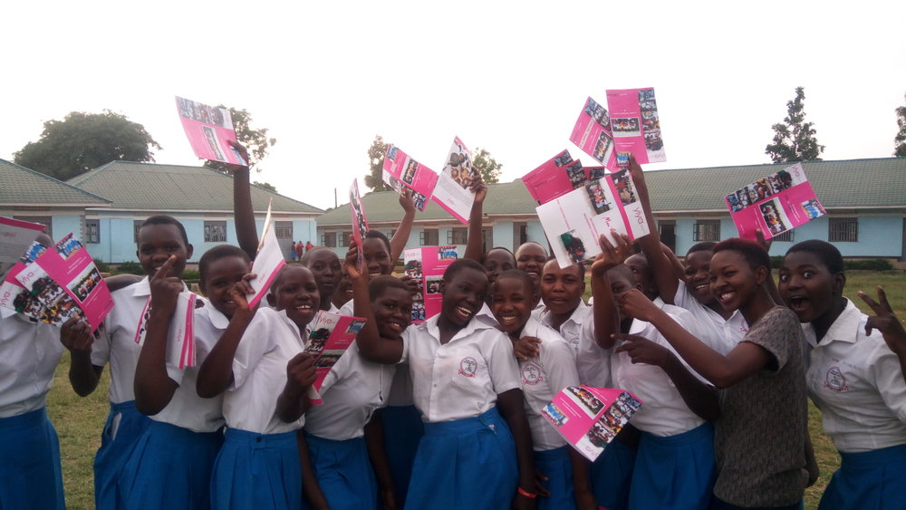 Students at Rapha Girls Secondary School love their Yiya engineering journals!
