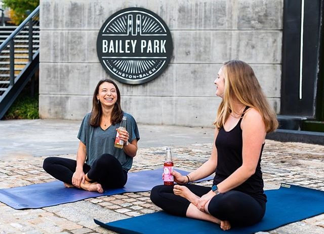 Yoga and booch...the perfect combo 🤗🙆‍♀️ what's your fave flavor to sip on post yoga? . . [📸: @whiteheathermedia ]