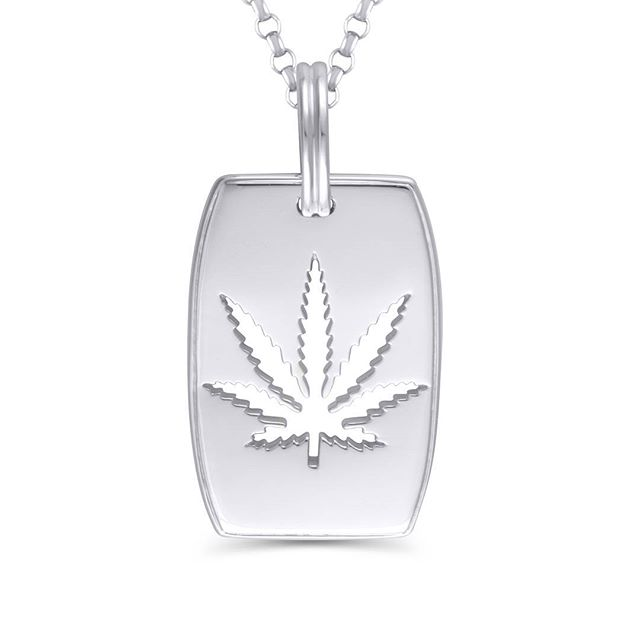 #identify yourself with other like minded people in the fight to #endprohibition with our new #dogtags! The #dogtag #necklace mirrors your strength to #speakup with a solid 3mm or 4mm #Denver #rope chain, while maintaining the #luxurious #lines of our #cutout #Sativaleaf #pendants.