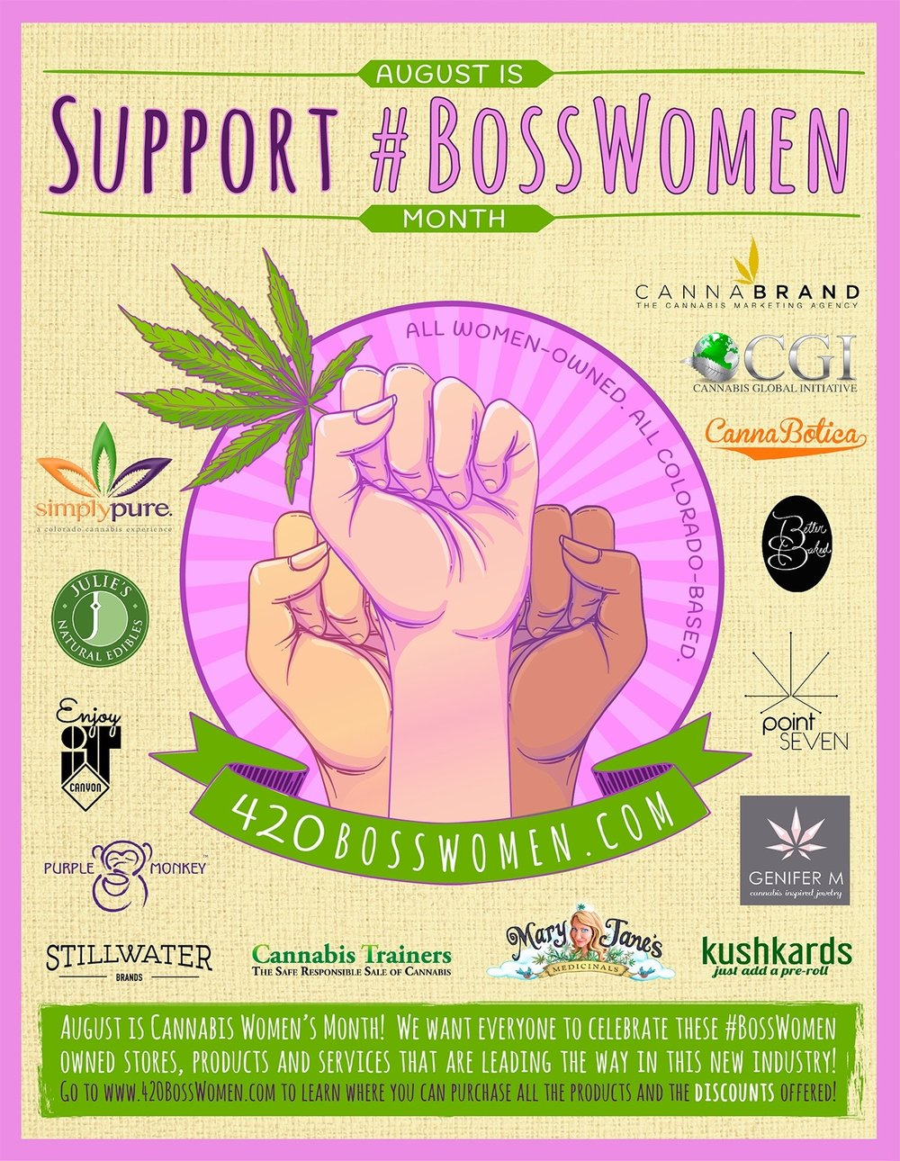 Boss Women -Genifer M Jewelry- Cannabis Inspired Jewelry - Gold Cannabis Penants