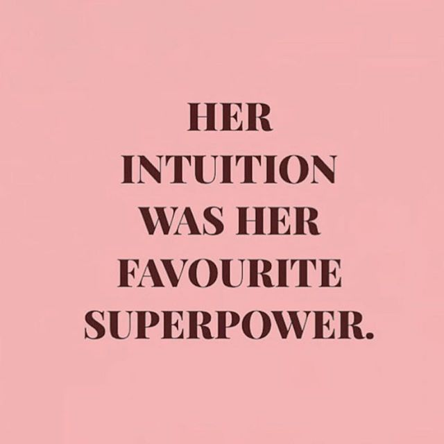 Your intuition is your super power. Listen to the voice in your head that is looking to guide you on your journey. Trust me, your intuition will never steer you in the wrong direction. 💞