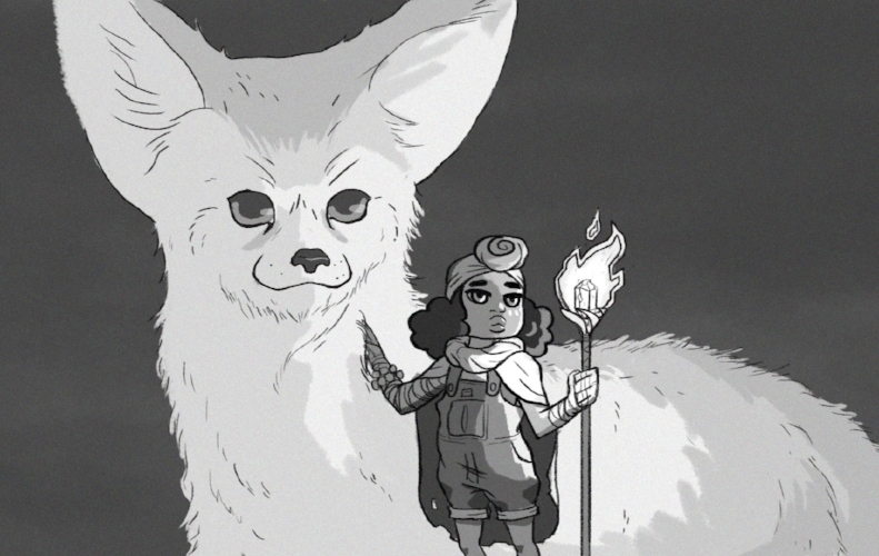 Pictured above: Janelle and Fox (Artwork by Morris C.)