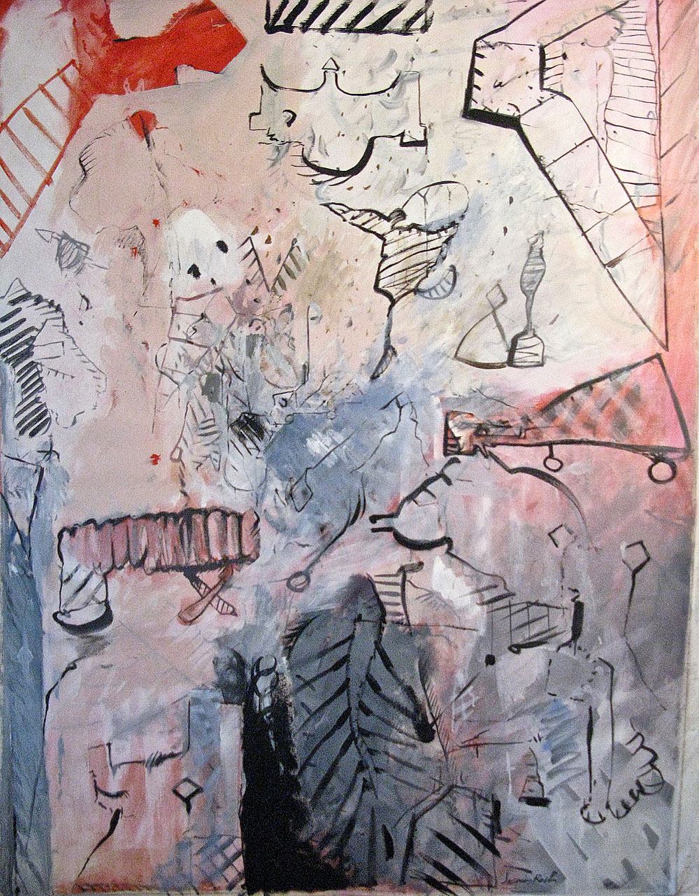 1981 La Vie En Rose, 50 x 66, acrylic on canvas