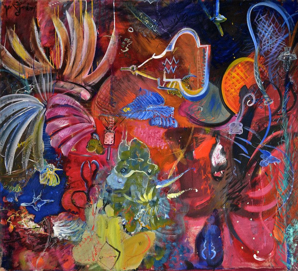 1983 Le Reveur Malgré Lui, acrylic on canvas, 67 x