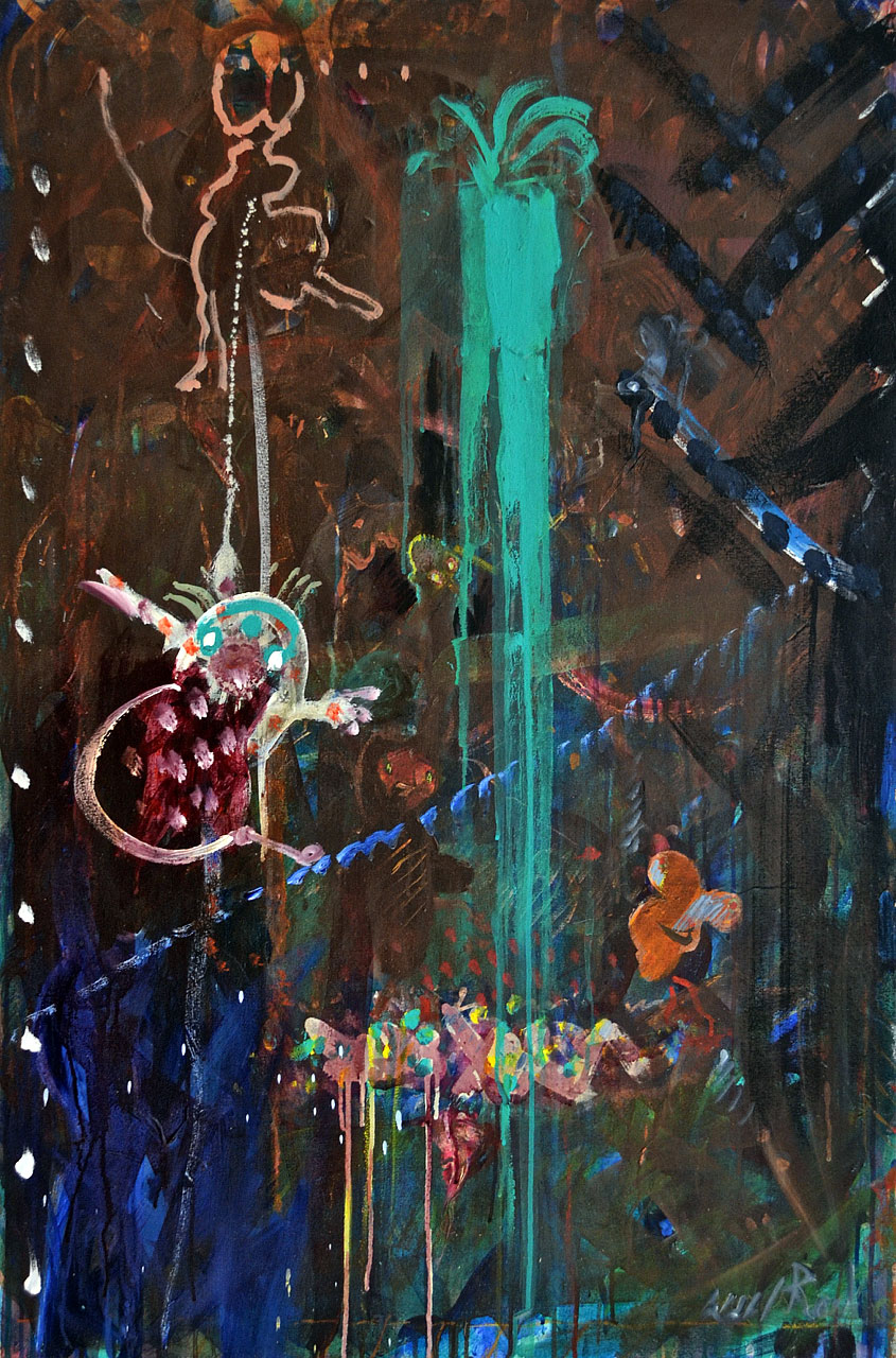 1987 Euphoria, acrylic on canvas, 32 x 48
