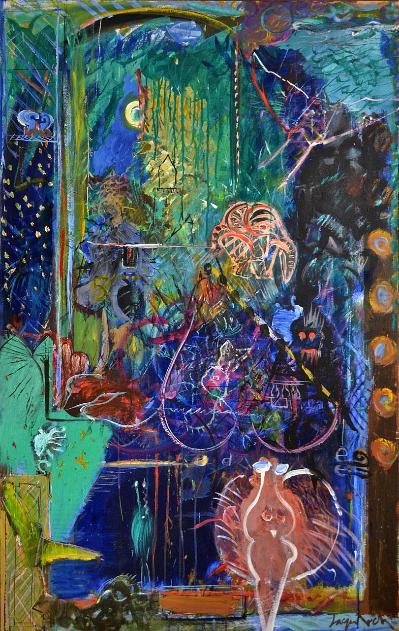 1986 The Lull, acrylic on canvas, 42 x 66
