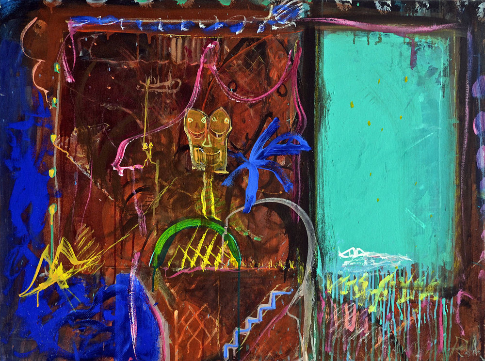 1987 The Door, acrylic on canvas, 30 x 40