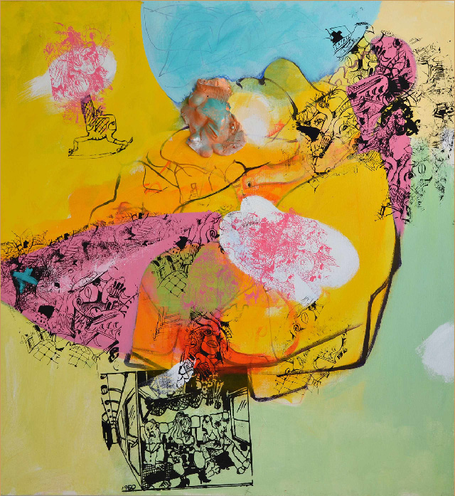 The Island 2011, Mixed Media 54x58