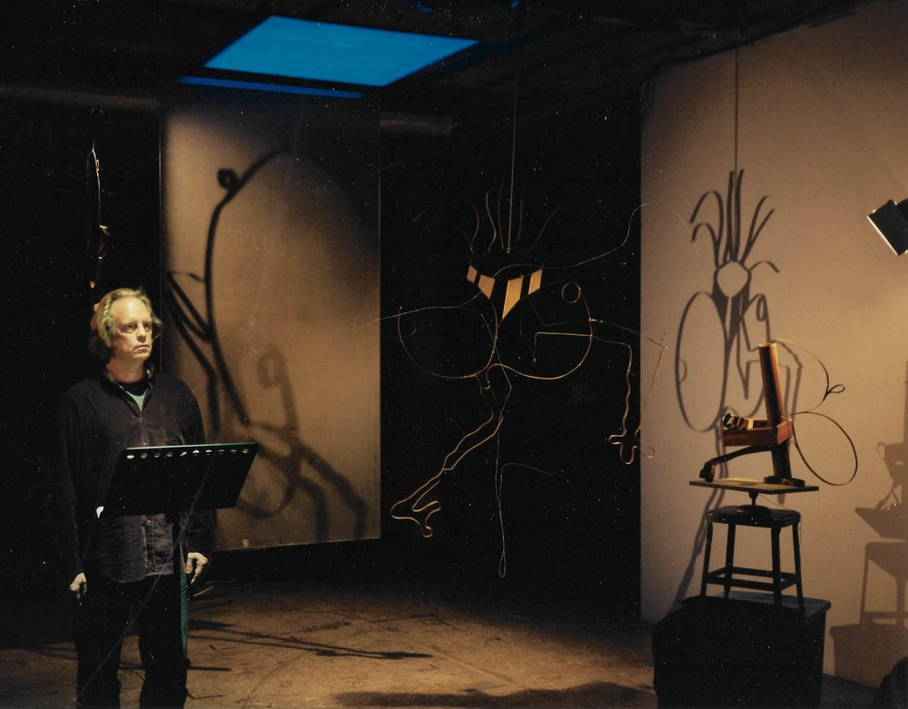 sculptures by Jacques Roch featured in performance of Samuel Beckett by Christopher Yeatman, produced by Eve Sussman and Simon Lee, New York 2010