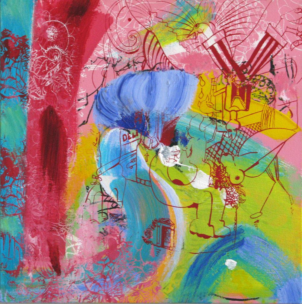 Le Dejeuner Sur L'Herbe, 2007, 18 x 18