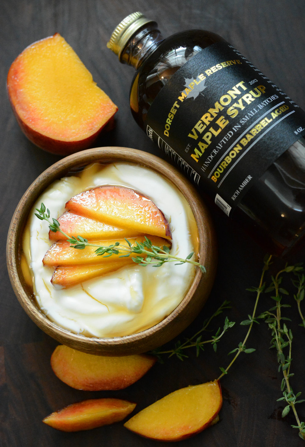 Maple Peach Yogurt