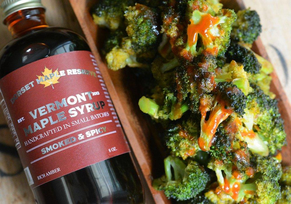 Maple Sriracha Broccoli