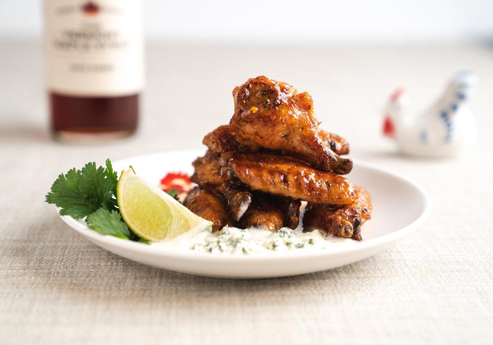 Maple Asian Glazed Chicken Wings