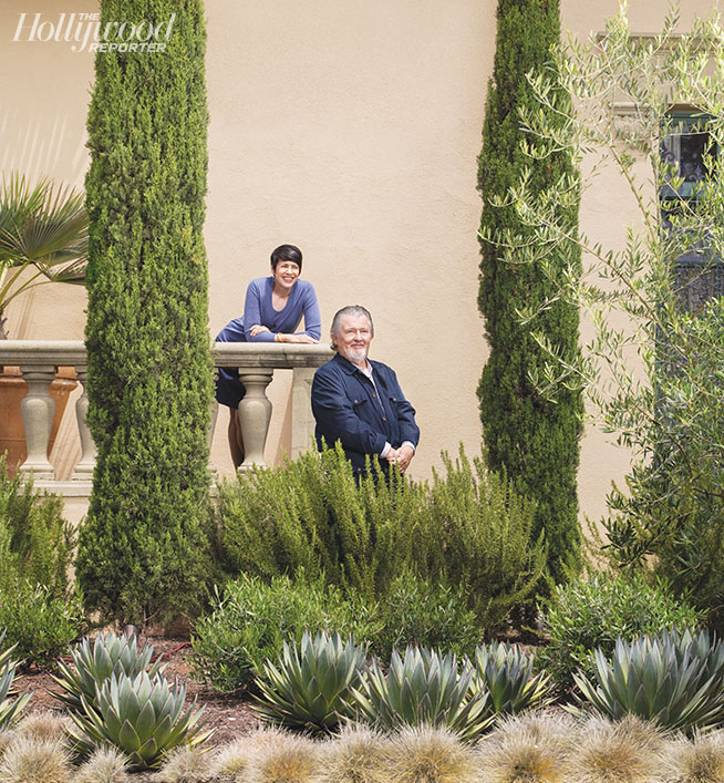 Gottlieb and Hill were photographed by Gregg Segal on Aug. 3 at their home in Beverly Hills. Design by Dryden Helgoe