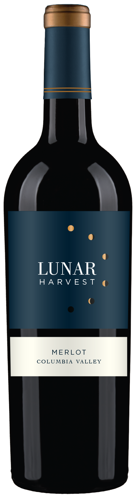 Lunar Harvest Merlot - Columbia Valley AVATASTING NOTEMouthwatering flavors of blackberry and mocha finish with silky tannins and lingering oak.FOOD PAIRINGRoasted pork loin, red sauce pasta dishes, & hard cheesesWINE SPECSABV 14%TA 4.86pH 3.87