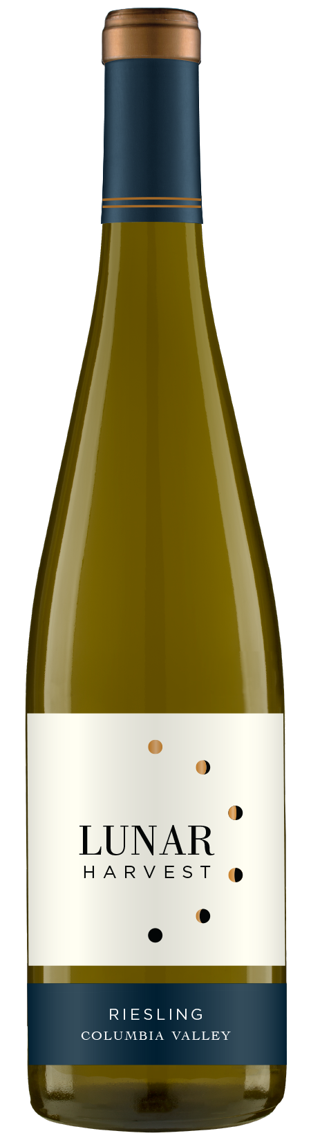 Lunar Harvest Riesling - Columbia Valley AVATASTING NOTEBright flavors of freshly picked peaches and oranges lead to a crisp finish. Medium sweet.FOOD PAIRINGSpicy Asian dishes, vegetable stir fry, & crabWINE SPECSABV 13.1%TA 7.35pH 2.88