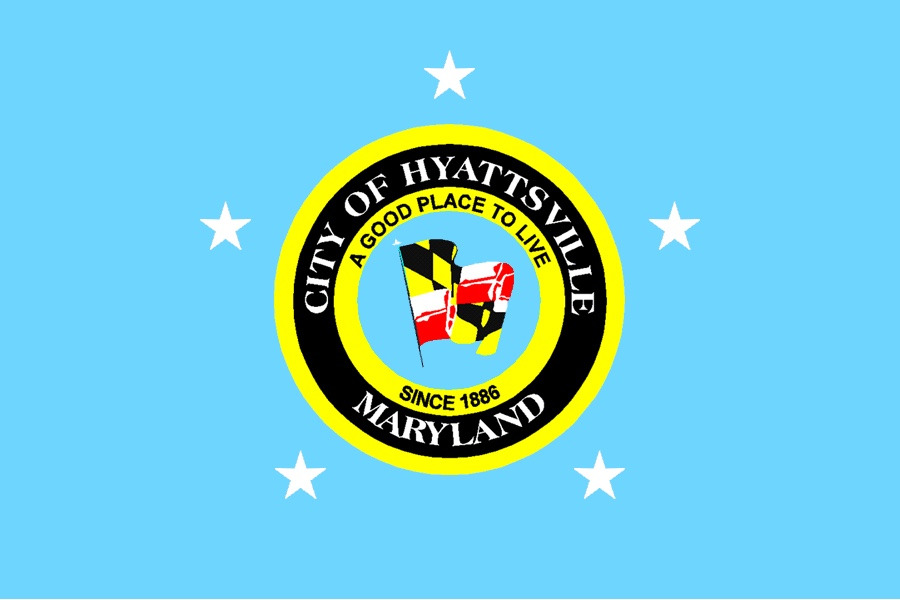 The Hyattsville flag could use some work. The Hyattsville motto as well.