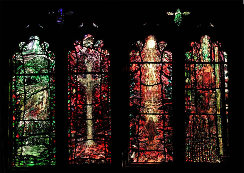 The  Treherne  windows at  Hereford Cathedral , Audley Chapel.