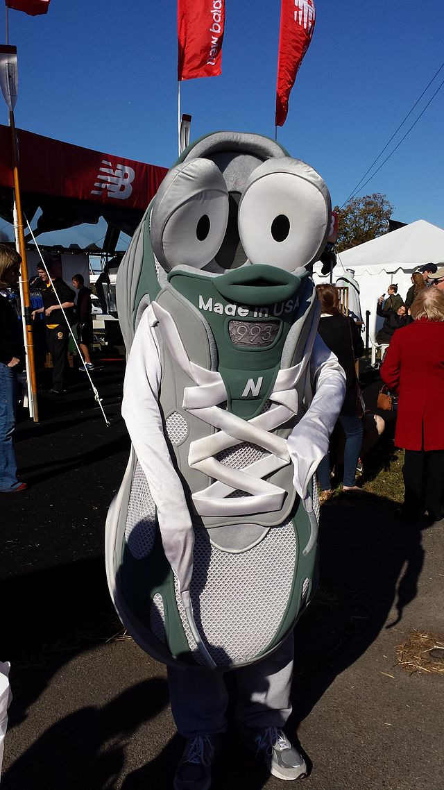 Newbie, the New Balance mascot.