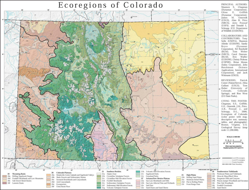 mapsontheweb: Ecological regions of Colorado Read More