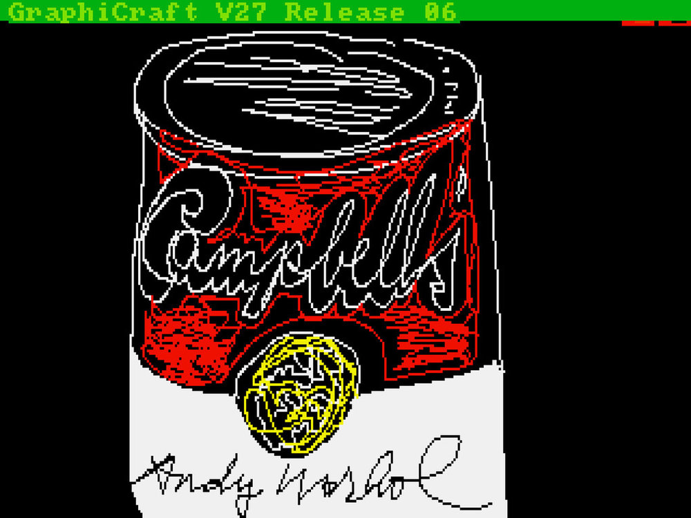 Andy Warhol's Amiga computer art found 30 years later.