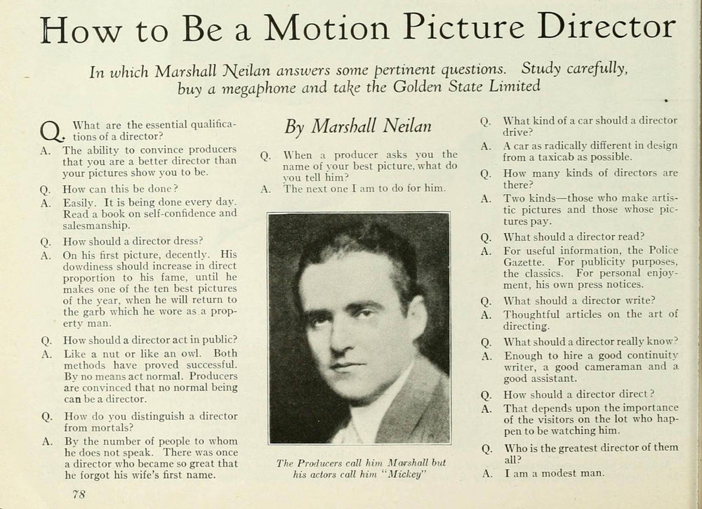 "Photoplay, September 1925 , via  Reddit .    ""I am a modest man."""