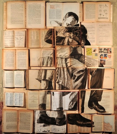 explore-blog :       Absolutely stunning   book paintings   by Russian-born, Rome-based artist     Ekaterina Panikanova , a fine addition to this  showcase of exceptional book art .       ( ↬   this isn't happiness )