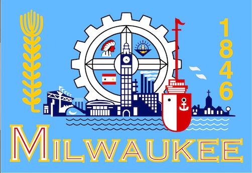 The Milwaukee city flag. A masterpiece of understatement.