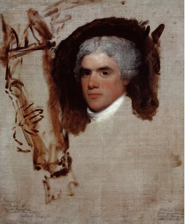 via  upload.wikimedia.org     John Bill Ricketts, aka, Breschard, the Circus Rider, by  Gilbert Stuart .