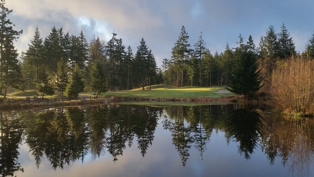 quadra island golf course - the 9th