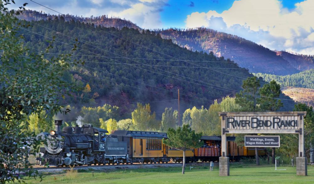 We're for Local Business - Recommending local businesses to our guests is one way we contribute to the local economy. Our beloved Durango-Silverton Train passes by the property daily. Sometimes the train is even used as transportation for event guests!