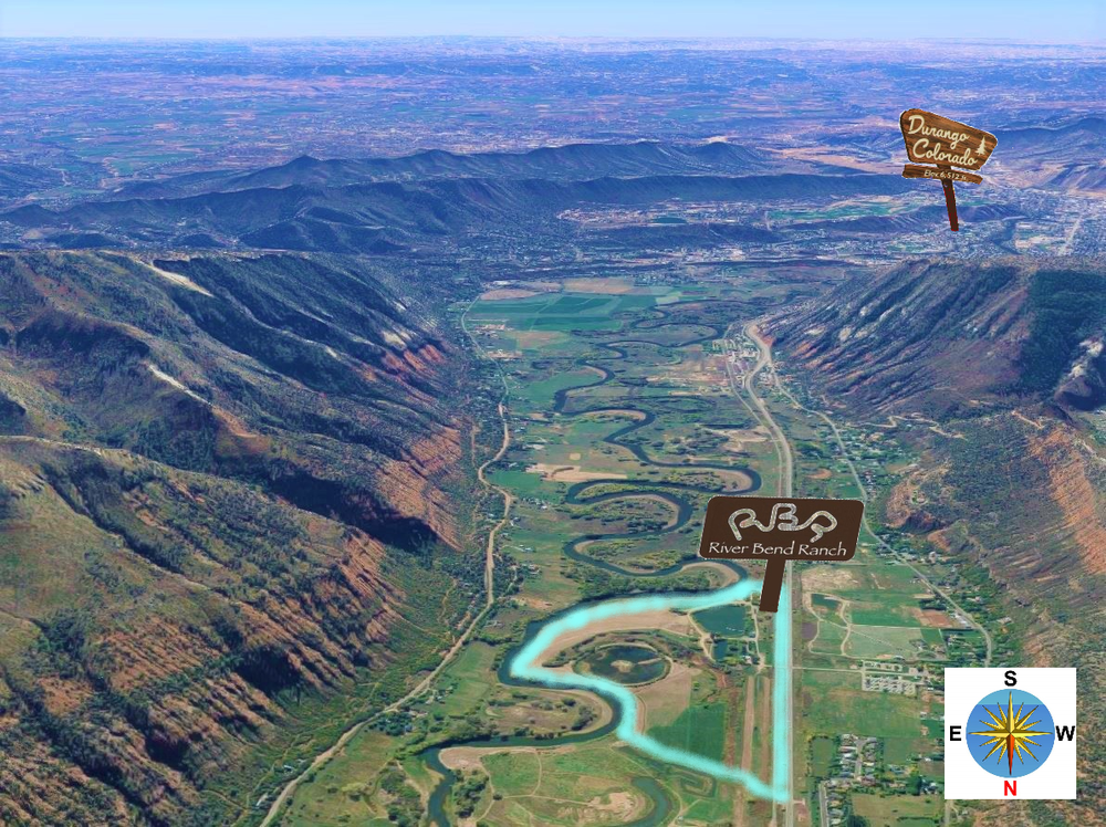 We're for Convenience - River Bend Ranch is located about five miles from historic downtown Durango. This means within ten minutes you'll find dozens of hotels, restaurants, bars, stores, parks, and many other places and activities you might need.