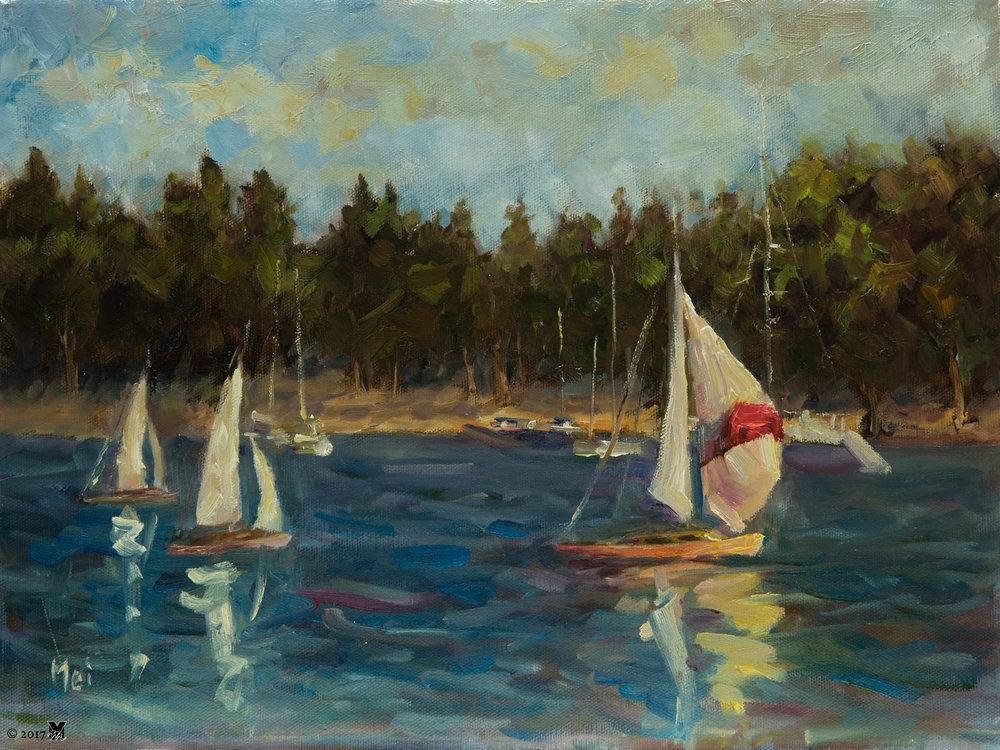 """Enjoy Oil on Canvas 12""""x16"""" 2014"""