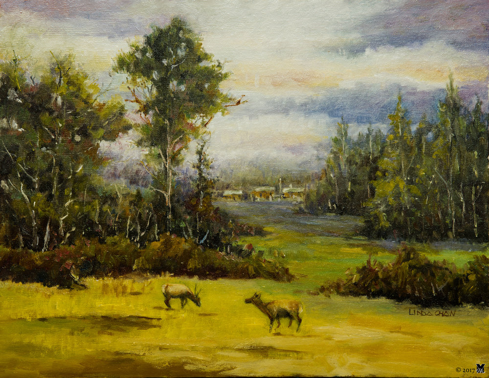 "Outside the Village Oil on Canvas 14""x18"" 2015"